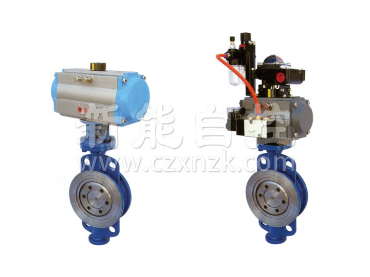 Pneumatic clamping type hard seal butterfly valve